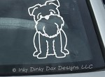 Cartoon Brussels Griffon Decal