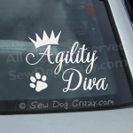 Vinyl Agility Diva Window Stickers