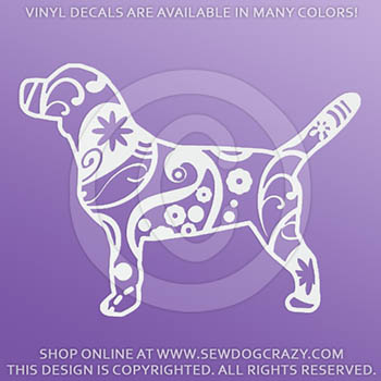 Paisley Beagle Vinyl Sticker