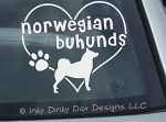 I Love Norwegian Buhunds Stickers