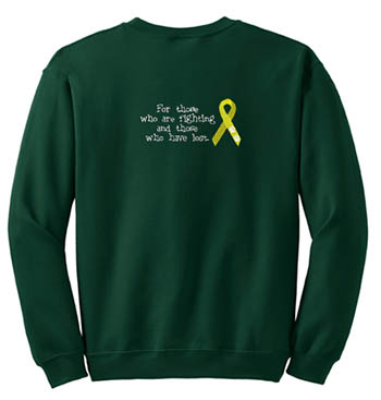 Embroidered Canine Cancer Sweatshirt
