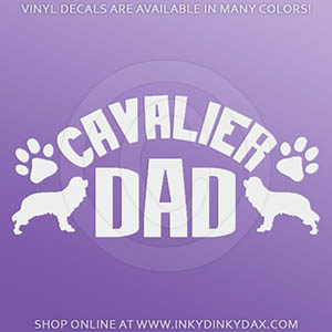 Cavalier Dad Sticker