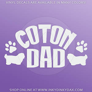 Coton de Tulear Dad Sticker