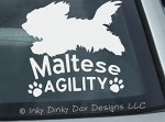 Maltese Agility Sticker