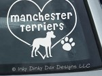 I Love Manchester Terriers Sticker
