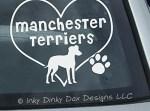 I Love Manchester Terriers Sticker