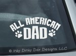 All American Dog Dad Sticker