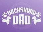 Dachshund Dad Car Sticker
