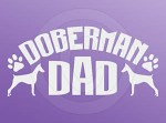 Doberman Dad Car Sticker
