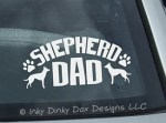 Dutch Shepherd Dad Decal