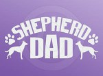Dutch Shepherd Dad Car Sticker