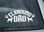Elkhound Dad Decal