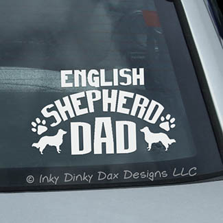 English Shepherd Dad Decala