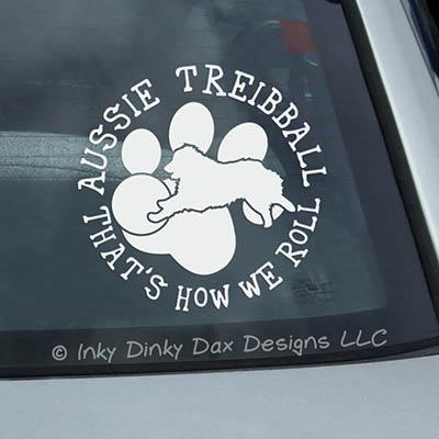 Aussie Treibball Car Sticker