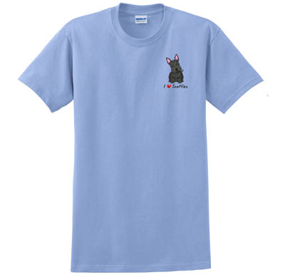 Embroidered Scottish Terrier TShirt