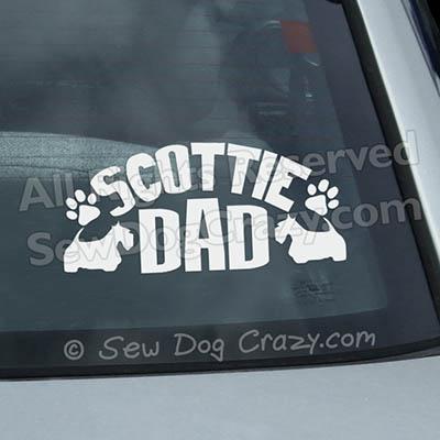 Scottie Dad Window Sticker