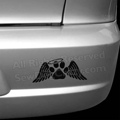 Dog Angel Bumper Sticker