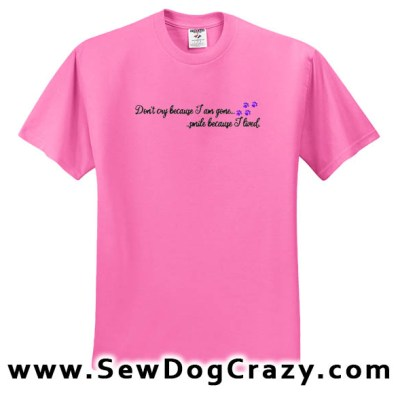 Embroidered Pet Loss Tshirt