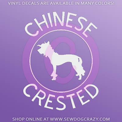 Chinese Crested Car Sticker