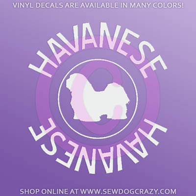 Havanese Car Window Decal