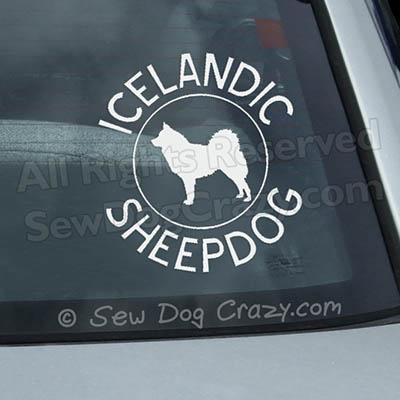 Breed Circle Icelandic Sheepdog Decal