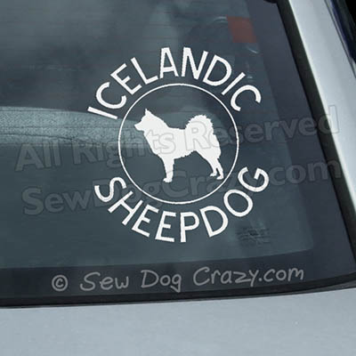 Breed Circle Icelandic Sheepdog Decal