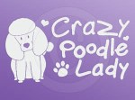 Crazy Poodle Lady Decal