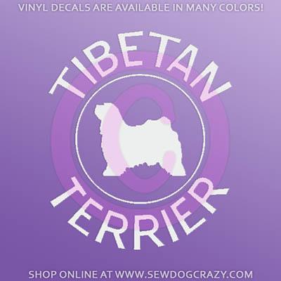 Tibetan Terrier Decals
