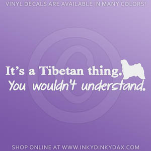 Tibetan Terrier Car Decals