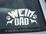 Weimaraner Dad Car Window Sticker