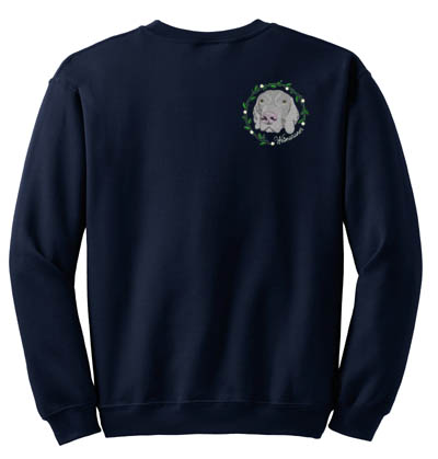 Embroidered Weimaraner Sweatshirts
