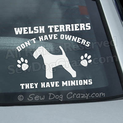 Funny Welsh Terrier Car Stickers