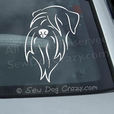 Soft Coated Wheaten Terrier Car Sticker