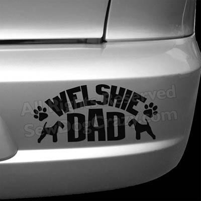 Welsh Terrier Dad Vinyl Stickers