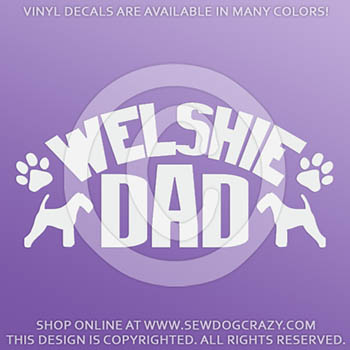 Welsh Terrier Dad Car Decals