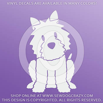Cartoon Westie Vinyl Stickers