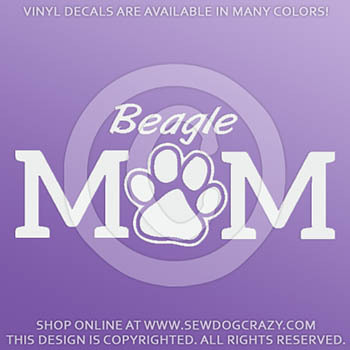 Vinyl Beagle Mom Car Stickers