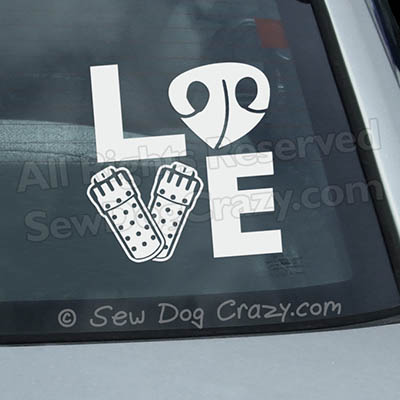 Love Barn Hunt Car Decals