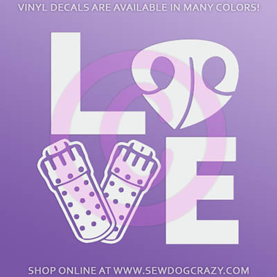 Love Barn Hunt Car Window Sticker