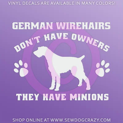 Funny Wirehaired Pointer Sticker