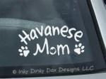 Havanese Mom Car Sticker