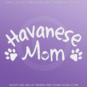 Havanese Mom Car Window Decal