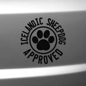 Icelandic Sheepdog Car Window Stickers