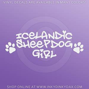 Icelandic Sheepdog Car Window Sticker