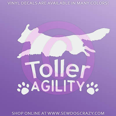 Toller Agility Stickers