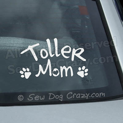 Toller Mom Car Window Decal
