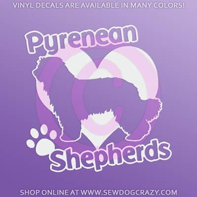 I Love Pyrenean Shepherds Sticker