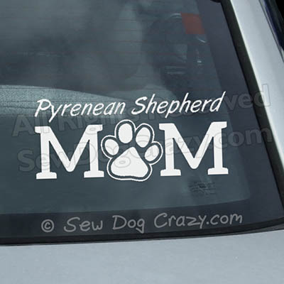Pyrenean Shepherd Mom Stickers