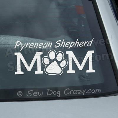 Pyrenean Shepherd Mom Stickers