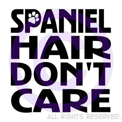 Funny Spaniel Hair Don't Care Shirts